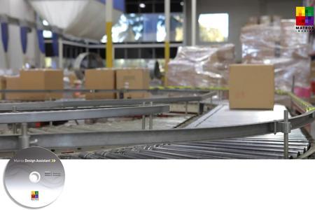 Matrox Design Assistant Anwendung im Bereich Logistik