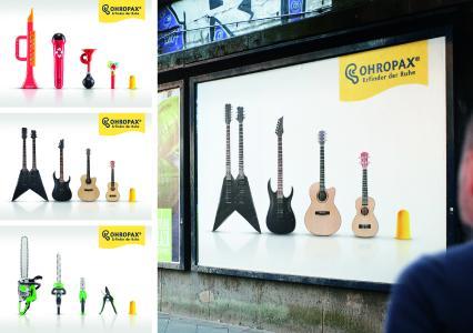 Kampagnenmotive OHROPAX von sumner groh + compagnie