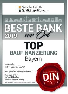 BESTE BANK vor Ort-Siegel