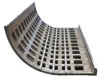 Brecherrost kpl. gefertigt aus A.S.S.- Verbundblech. Einsatz erfolgt im Glasrecycling in einer Hammermühle.