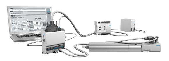 Optimised Motion Series with EPCO: this simple, full-feature but inexpensive positioning system offers two ways of configuring up to seven or 31 positioning variants very simply and quickly. (Photo: Festo AG & Co. KG)
