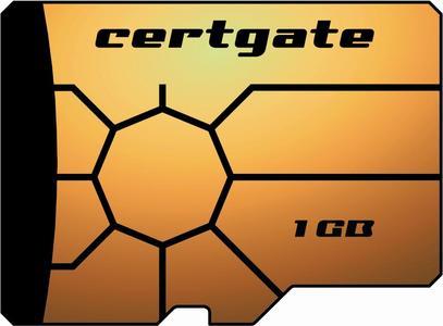 Die certgate Smart Card microSD unterstützt die verschlüsselte Datenspeicherung, ein sicheres Mobil-Banking nach HBCI- und EBICS-Standard und den Aufbau geschützter VPN-Verbindungen auf mobilen Endgeräten.