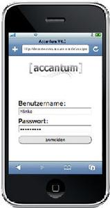 iPhone accantum login
