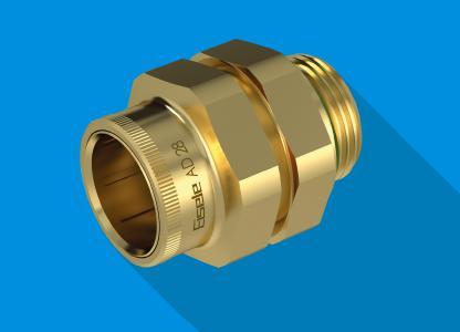 Die Steckverschraubungen der LIQUIDLINE Serie 2500 aus entzinkungsbeständigem Messing ergänzt Eisele um den bisher größten Anschluss mit 28 mm Außendurchmesser
