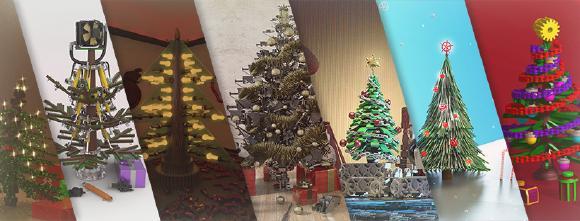 Der TraceParts Weihnachtsbaum-Konstruktionswettbewerb jährt sich zum 12. Mal