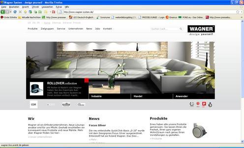 Die avenit AG setzte die neue Webseite der Wagner System GmbH unter www.wagner-system.de um