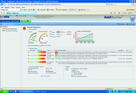 Fieldmonitor Anlagenüberwachung Screenshot