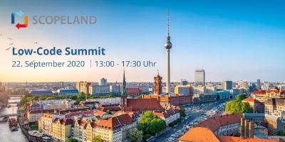 Scopeland Technology lädt zur Premiere des Low-Code Summit ein