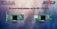 Den HBA gibt es bei Starline mit internen (ARC-1330-8i) und externen Ports (ARC-1330-8x).