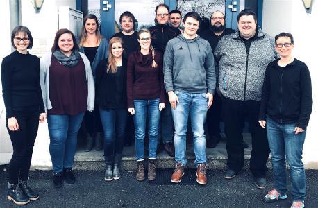 Ein Teil des BioVariance Teams mit Dr. Josef Schreiber (2.v.r.) / © Bild : BioVariance GmbH