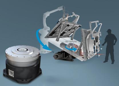 Die kompakten Getriebeköpfe der RS-Serie von Nabtesco sind hochpräzise, extrem belastbar und äußerst langlebig – und damit eine echte Alternative zu herkömmlichen Drehtischen