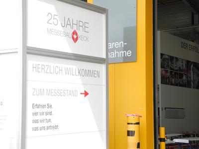 Eingang für die Besucher des Werkes in Althengstett, Foto Pressebüro Schiel