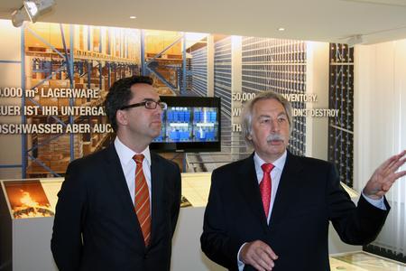 Werner Wagner im Gespräch mit Staatssekretär Dr. Oliver Liersch