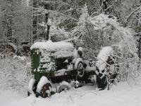Winterschlaf Traktor