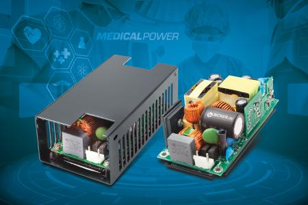 Fanless medical power supplies for reliable 24/7 continuous operation (Photo: Bicker Elektronik GmbH)