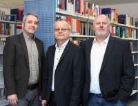 Das Präsidium der Hochschule Weserbergland:  Prof. Dr. Meik Friedrich, Prof. Dr. Hans Ludwig Meyer, Karsten Lillje (v.l.n.r.).