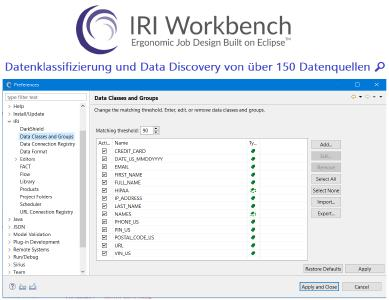IRI Workbench™ ist die kostenlose grafische Benutzeroberfläche (GUI) und integrierte Entwicklungsumgebung (IDE) für alle IRI-Datenmanagement- und Schutzsoftwareprodukte und die Voracity-Plattform, die sie beinhaltet. Die unter Windows, MacOS und Linux verfügbare Workbench steuert Aufträge über bewährte IRI CoSort und Hadoop Engines und nutzt dabei alles, was Eclipse™ bietet.