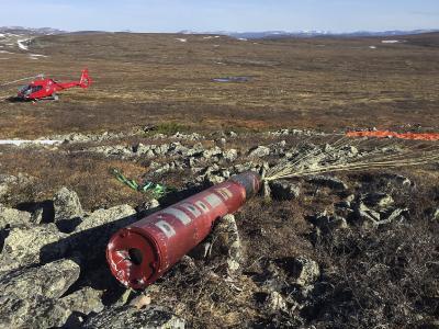 Bergung der Nutzlast von TEXUS-55. Bild: SSC Swedish Space Corporation