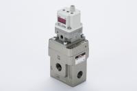 Wenn es um die präzise und energiesparende Regelung großer Luftvolumina geht: Die neuen elektropneumatischen Druckregler der Serie VEX
