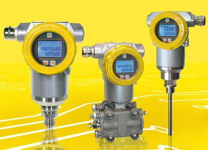 Alle guten Dinge sind drei: Der Differenzdruckmessumformer HE 5425 aus dem Bereich der Heavy-Duty-Sensoren von HESCH wurde um den Druckmessumformer HE 1125 und den Temperaturmessumformer HE 1225 ergänzt