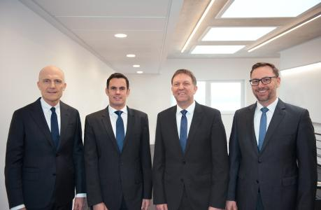 SEEPEX has had a positive year. Left to right: Ulli Seeberger (Chairman), Alexander Kuppe, Dr. Bernd Groß, Dr. Christian Hansen