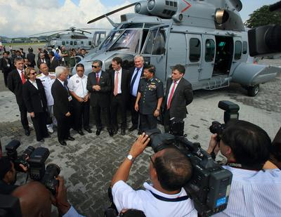Eurocopter delivers the first two Royal Malaysian Air Force EC725s from an order for 12 medium-lift, twin-engine helicopters © Copyright Eurocopter Malaysia