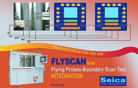 FlyScan from Seica SpA, the true integration between ATE Flying Probe and Boundary -Scan Test