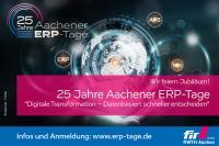 Imagebild 25 Jahre Aachener ERP-Tage mit Webadresse, ©  / fotolia.de