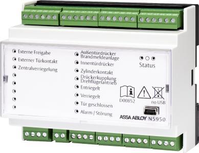 Die Standardvariante der I/O-Module wird auf der Hutschiene montiert und bietet sämtliche Funktionen, die in modernen Objekten erforderlich sind
