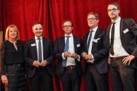 Claudia Schieblon (PMN Network), Stephan Leimbach (Jones Lang LaSalle GmbH), Dr. Thomas Senff (Graf von Westphalen), Thomas Hofbauer (Hill International), Dr. Tim Nesemann (Graf von Westphalen)
