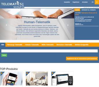Screenshot der Homepage von Telematics-Scout.com. Bild: MKK Media GmbH