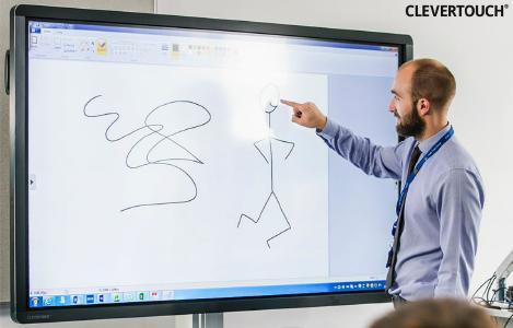 Clevertouch UX Pro Touchscreen / interaktives Whiteboard, Präsentation