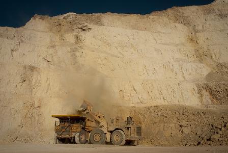 Auf einer Goldmine; Foto: Barrick Gold