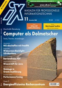 Das Titelbild der aktuellen iX-Ausgabe 11/2008