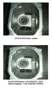 Surface finish achieved with coated form and, for comparison, with the new ISOSEAL™ 2011