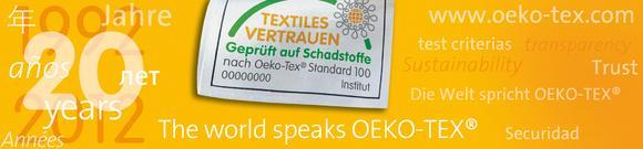 Banner 20 Jahre OEKO-TEX®