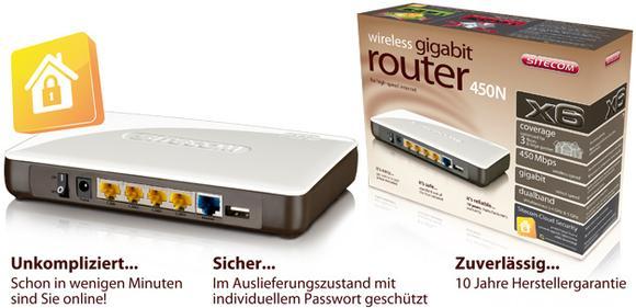 WLR-6000 Wireless Gigabit Router 450N X6