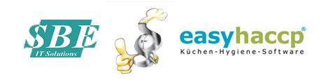 Logo von easyhaccp und SBE IT Solutions