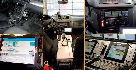 Mobile Kommunikations- und Informationstechnik im Einsatz (Bildquelle: Dr. Cimolino, A. Graeger, FW Düsseldorf; A. Schweigger, FW Hagen; Kreis Gütersloh)