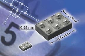 Vishay Releases New 20-V P-Channel TrenchFET® Power MOSFET in MICRO FOOT® Chipscale Package With Industry's Thinnest Profile of 0.59-mm