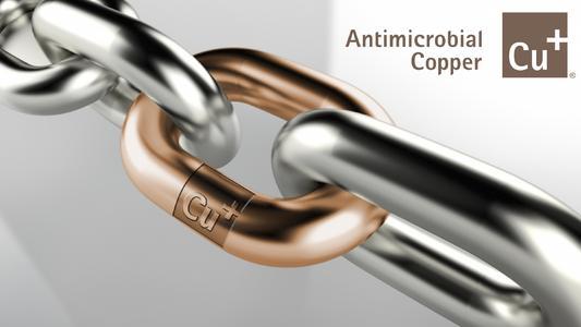 Antimicrobial Copper steht für antimikrobielle Kupferlegierungen