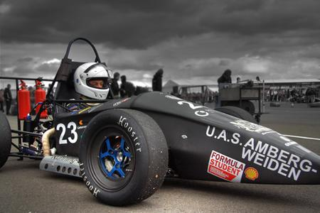 The RS10 racing car won an award from Airbus for the car with the best light construction concept