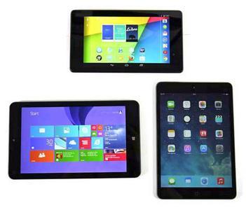 Vergleichstest iPad Mini, Nexus 7 und ThinkPad 8
