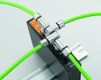 Weidmüller's RJ45 plug-in connectors: The outlet directions, which can be flexibly adjusted in increments of 90°, allow for custom-fit cable routing within the tightest of spaces