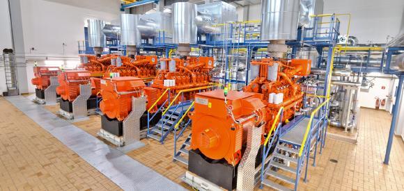 KWK mit emissionsarmen Lambda-1-Motoren im Megawatt-Bereich