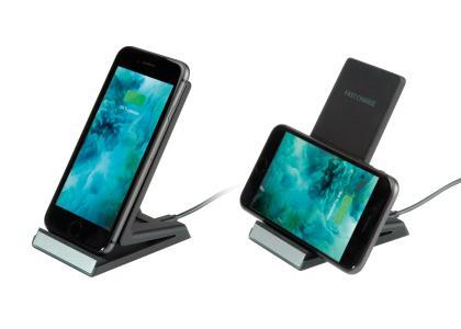 ROLINE Induktions-Lade-Ständer für Mobilgeräte, 10W