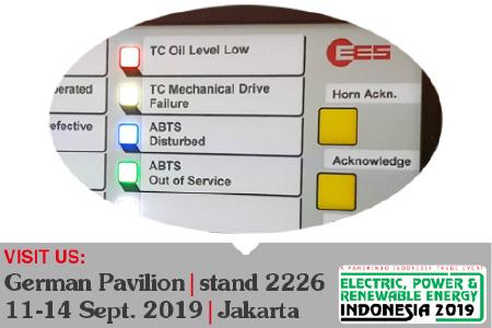 EES shows annunciators with RGB-LEDs at EPRE fair in Jakarta