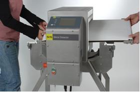 Beim Metall-Detektionssystem ECOLINE-D kann der Gurt in weniger als einer Minute gewechselt werden