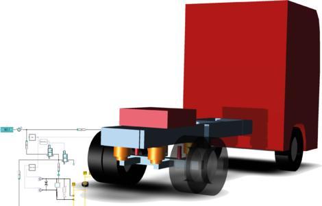 new SimulationX library vehicle pneumatics, © ITI GmbH 2015