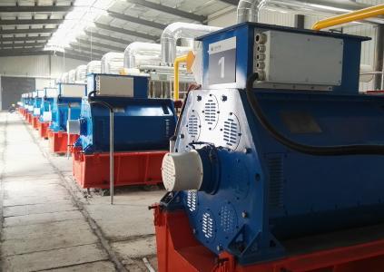 Application H30: Hochspannungsgeneratoren von B.E.M. werden für die Energieerzeugung in Kraftwerken eingesetzt - im Bild ein Gaskraftwerk